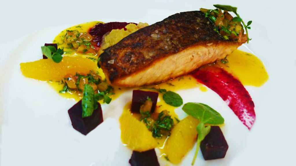 Salmon dish, salmon from Meylers Fish Shop Monart Blog