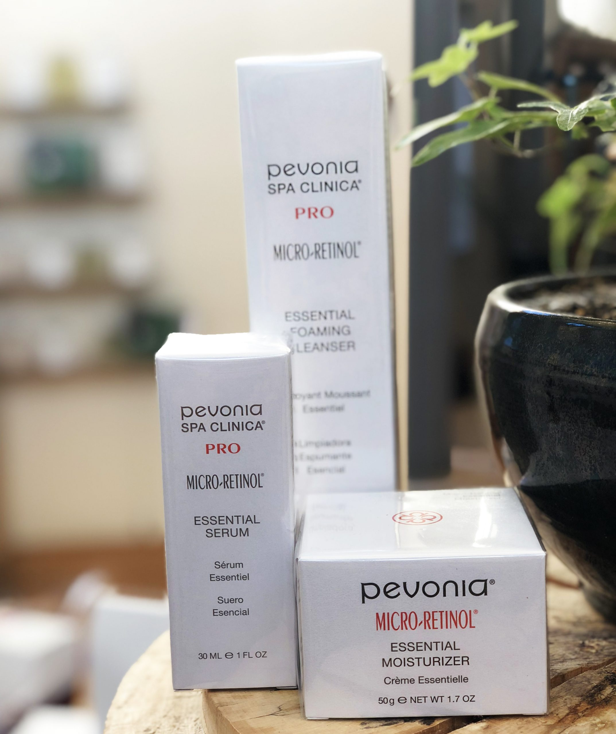 Micro retinol Pevonia products